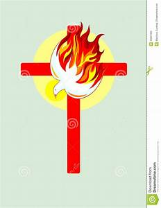 Cross and Holy spirit stock vector. Image of illustration ...