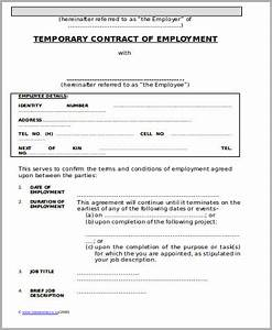10 temporary employment contract samples sample templates With temporary job contract template