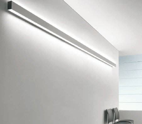 linear wall mounted fluorescent light fixture for offices
