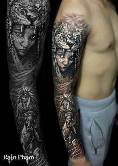 Tattoos Indian Tattoo Native Sleeve Arm Sleeves