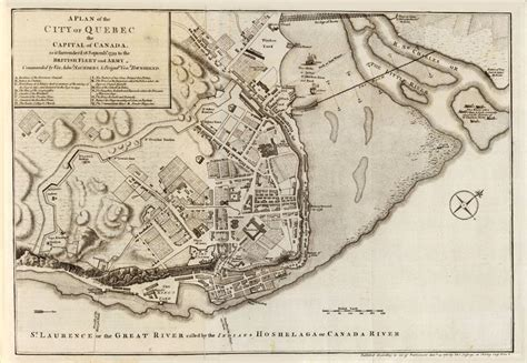 map  quebec city  fortifications canada
