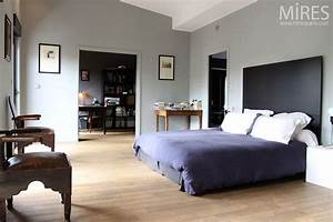 Chambre Gris Et Bleu : grande chambre gris bleu c0476 mires paris ~ Melissatoandfro.com Idées de Décoration