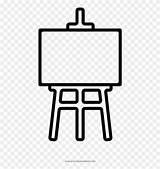 Easel Coloring Clipart Batterie Piktogramm Pinclipart sketch template