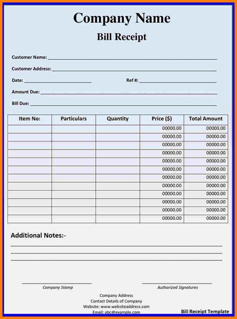 simple billing statement template sample travel bill