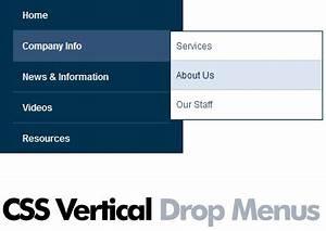 drop down menu html template - editing vertical css dropdown menus