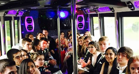 party bus prom prom party bus and limo in nj and nyc us bargain limo
