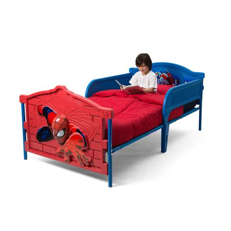 twin bed for toddler boy spider 3d bed with guardrails boys 19989