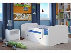 Lit enfant 80 cm x 180 cm avec sommier barriere de for Deco chambre enfant avec matelas longueur 180