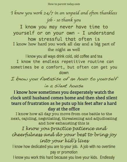 11 things to say to a stay at home parent how to parent