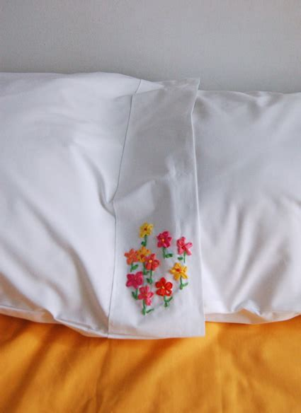silk ribbon embroidered pillow cases
