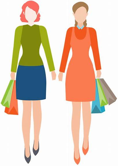 Shopping Clipart Woman Pocket Clothes Clip Together
