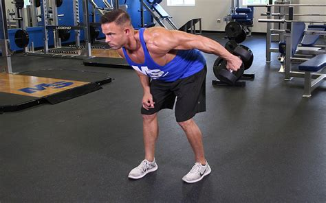 arm bent  dumbbell tricep kickback video exercise