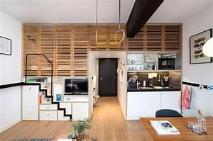 Lit Gain De Place Studio : escalier gain de place en 12 exemples fonctionnels ~ Premium-room.com Idées de Décoration