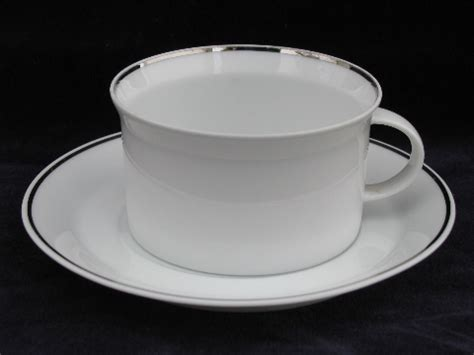 rosenthal platinum band china coffee pot set cups saucers