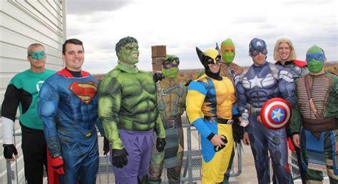 police swat team dressed  superheroes surprise kids