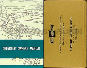 1954 Chevrolet Car Owners Manual Package 54 Chevy Owner