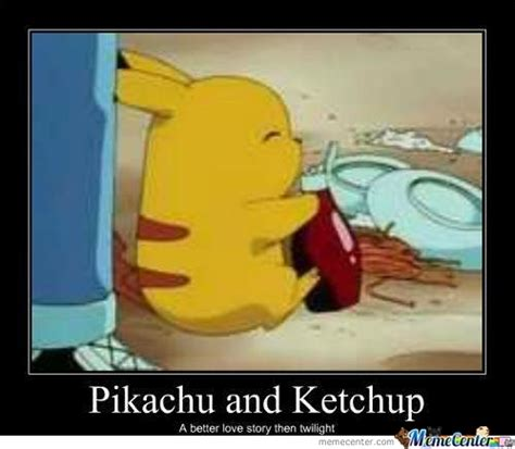 Funny Pikachu Memes - pikachu and ketchup by frizbee meme center