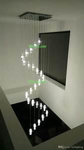 2 Light Bar Pendant Stair Chandelier Hanging Crystal Pendants For Chandeliers