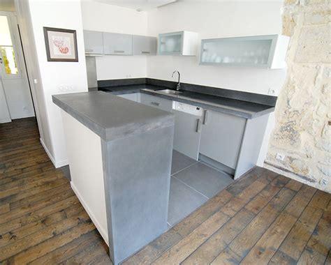 beton ciré cuisine plan travail beton ciré sur plan de travail cuisine avis