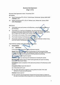 business buyout agreement template - business sale contract template