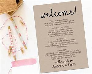 Welcome letter wedding itinerary printable welcome for Wedding weekend welcome letter