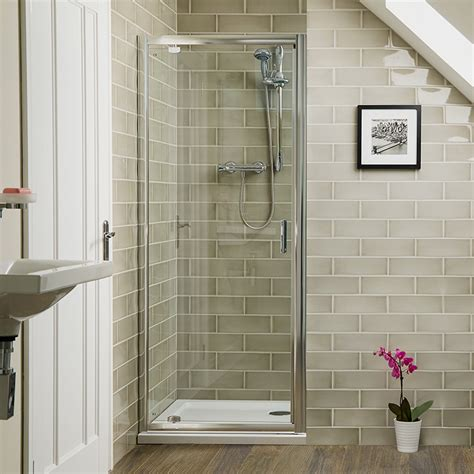aqualine mm  pivot shower door