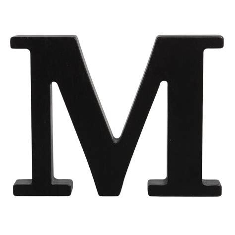 big letter m wooden letter m black 20607 | wooden letter m black