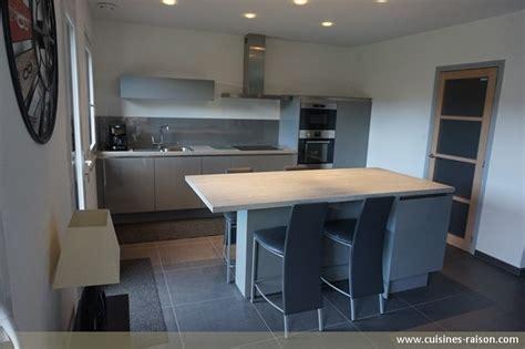 cuisine effet beton plan de travail cuisine effet beton 7 cuisine couloir