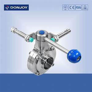 Manual Butterfly Valve Sanitary Level Operated By Pull Rod