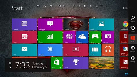 theme bureau windows 7 gratis tema windows 7 superman of steel 2013