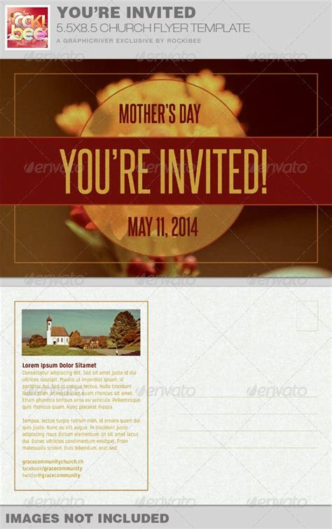 youre invited church flyer invite template simple