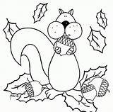 Coloring Squirrel Preschool Pages Sheets Colouring Tree Fall Popular Thanksgiving Books Coloringhome sketch template