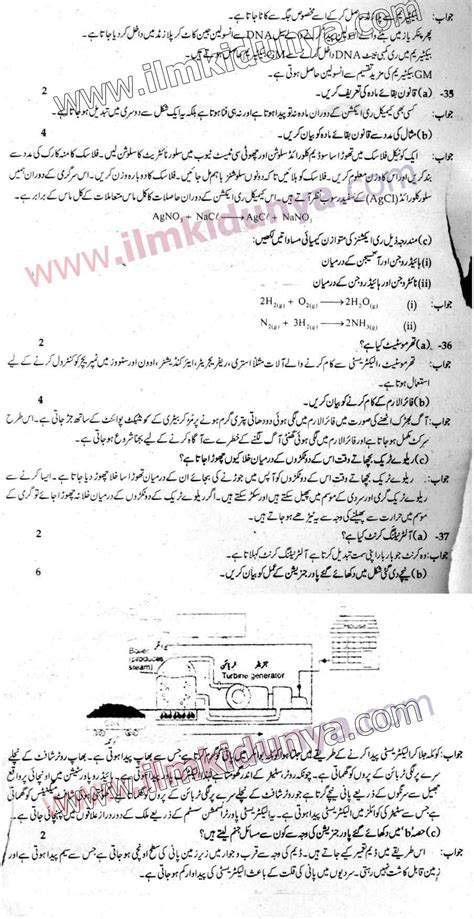 punjab examination commission pec  class  paper