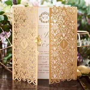 golden invitation imperial design gatefold gold pearl With gold laser cut wedding invitations uk