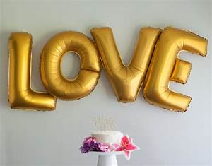love letter balloons 40 inch extra large gold foil balloons With big gold letter balloons