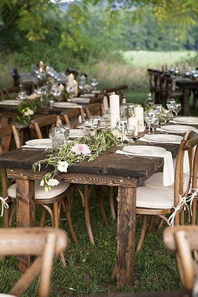 laid   york farm wedding wood tables raw wood