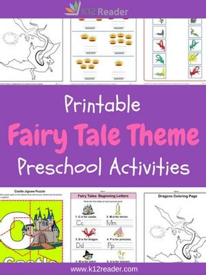 tales preschool theme activities printable 775 | FairyTaleThemedActivities