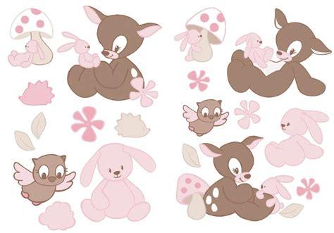 stickers lapin chambre bébé nattou stickers faon rosy doudouplanet