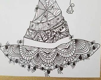 Almost files can be used for commercial. Zentangle Spider Witch Hat for Halloween SVG   Zentangle ...