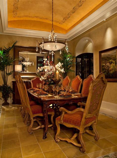 Luxury Mediterranean Dining Room Design