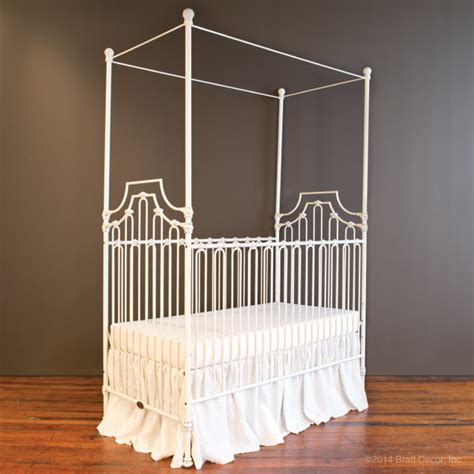 Bratt Decor Crib Distressed White by Bratt Decor Baby Cribs And Furniture Assembly