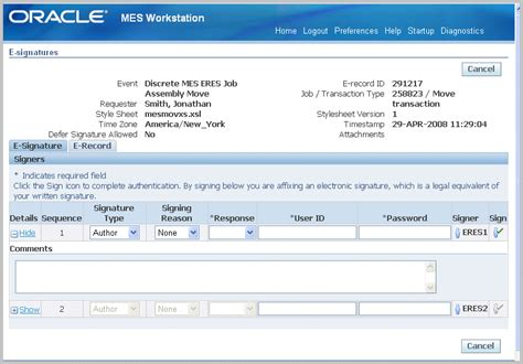 oracle manufacturing execution system  discrete