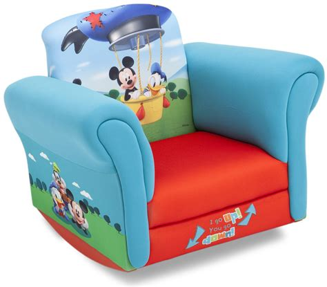 delta upholstered child s mickey mouse rocking chair kmart