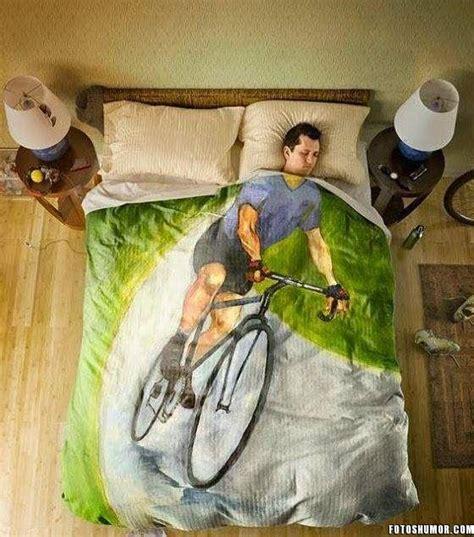 edredon  ciclistas fotos de humor