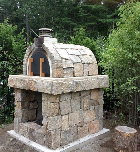 natural stone wood fired pizza oven  rhode island built