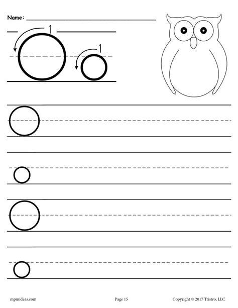 free printable letter o handwriting worksheet supplyme