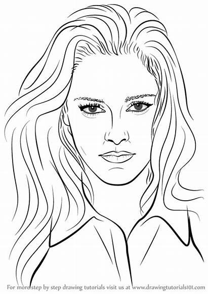 Kristen Stewart Draw Step Drawing Tutorials Celebrities
