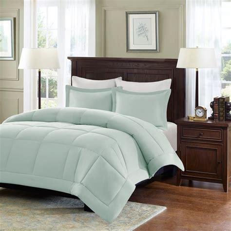 Cal King Alternative Comforter by Seafoam Blue Belford Microcell Alternative Comforter