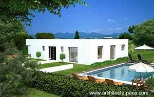 plan maison avec patio de 5 pieces 129 m2d39architecte With plan gratuit de maison 10 maison de ville avec patio