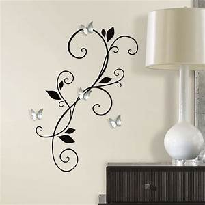 Mirror wall decals diy 3d mirror wall art crafthubs for Mirror wall decals